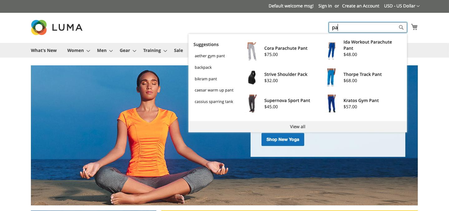 Live Search Adobe Commerce