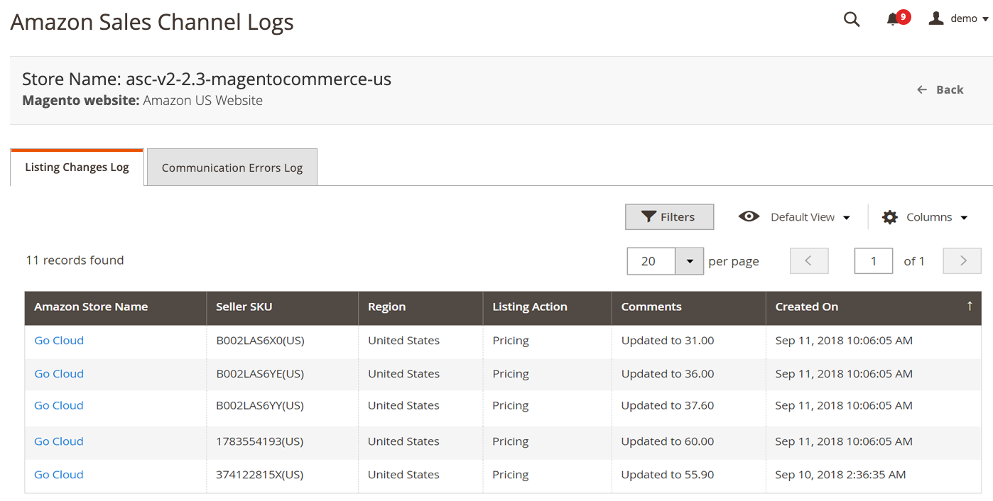 Listing Changes Log Magento 2 4 User Guide