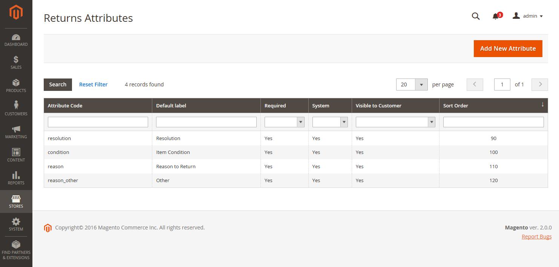 Returns Attribute Magento 2.3 User Guide